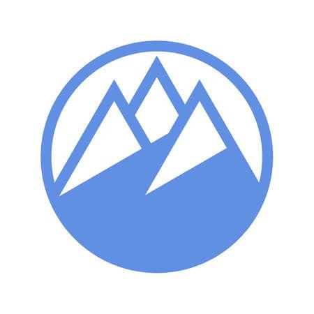 Mountain icon isolated on white background Illusztráció