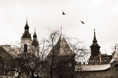 stare miasto: The old city (Stare Miasto) in Warsaw, Poland Stock Photo