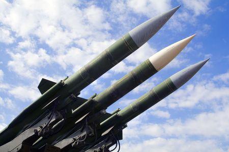 Soviet ballistic missile Stock Photo