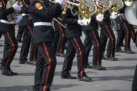 Marching military band at the parade Stock Photo - 1052455