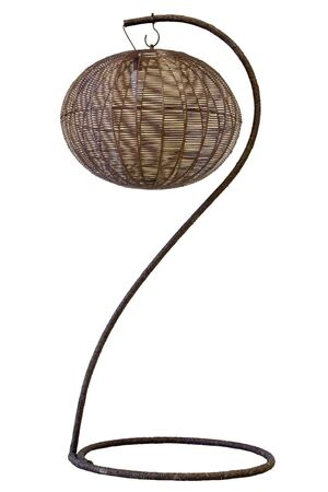 Floor lamp on white background Stock Photo