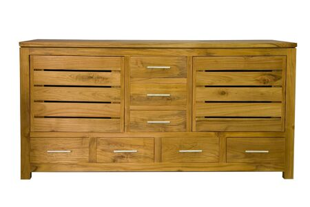 chest of drawers: Chest with drawers on a white background