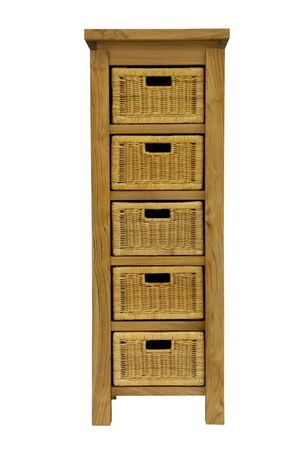 Cabinet with drawers on a white background Standard-Bild