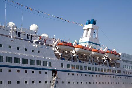 Detail von einem großen weißen Meer-liner Standard-Bild - 1067758