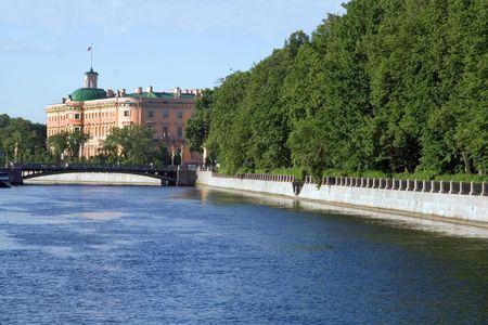 palacio ruso: Palacio de Mikhailovsky del emperador ruso Pavel I, el comenzar del siglo XIX