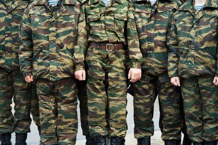Los soldados del ej�rcito ruso en uniforme  Foto de archivo - 1149245