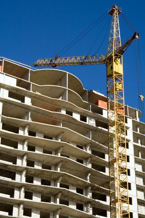 erection: Construction of modern building