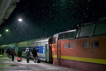 The train at the railway station