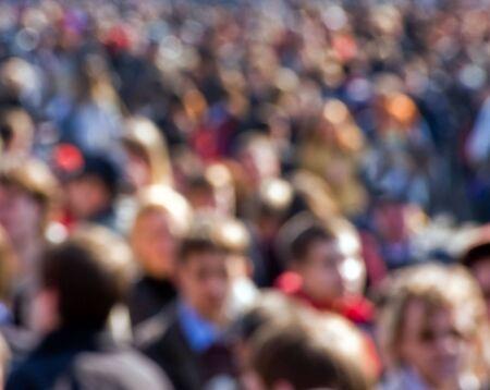 Multitud de gente en la calle Foto de archivo - 2813665