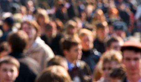 Menschenmenge auf der Straße Standard-Bild - 2813664
