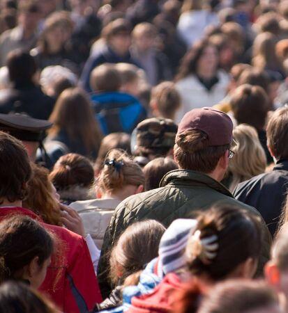 Menschenmenge auf der Straße Standard-Bild - 2813668