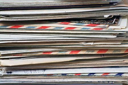 Ein Großteil der alten Buchstaben und Junk-mail  Standard-Bild - 2847345