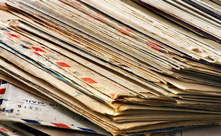 Ein Großteil der alten Briefen und Junk-Mail  Standard-Bild - 2847344