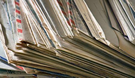 Ein Großteil der alten Briefe und Junk-Mail Standard-Bild - 2847340