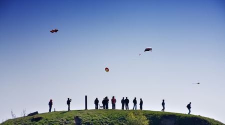 Kites festival in Helsinki, Finland