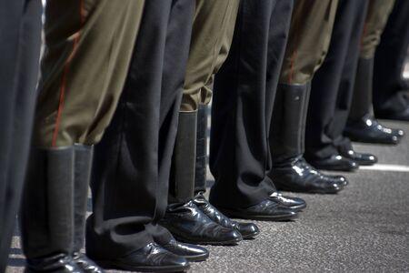 Army unit at the parade