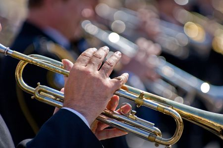 Musicians at the Festival of Military Bands, St.Petersburg, Russia, 12.06.2008 Stock Photo