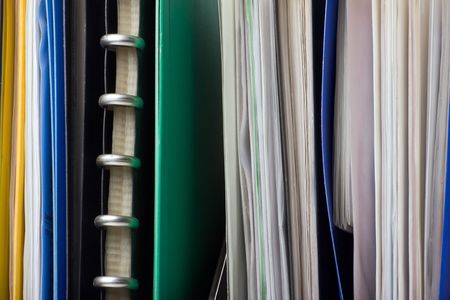 A lot of papers, documents and file folders photo