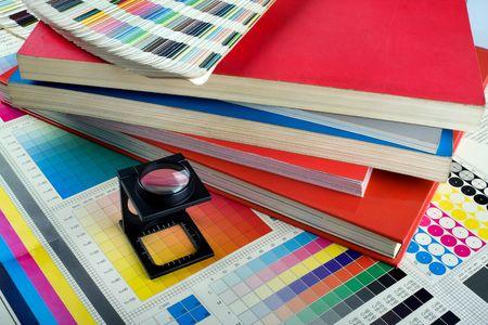 Presse Color Management - Print-Produktion Standard-Bild - 4649969