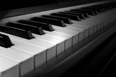 teclado de piano: Teclado de piano interfaz MIDI - vista de cerca (detalle)