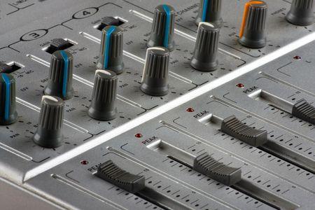 Panel of music mixer - closeup view Stock Photo - 4697737