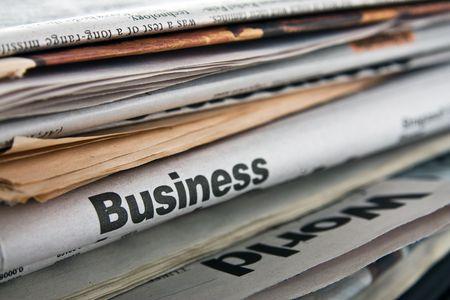 Die großen Stapel alte Zeitungen Standard-Bild - 4719573