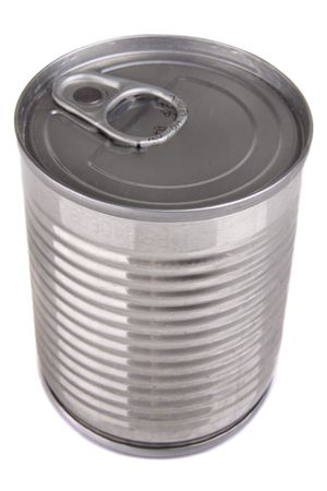 Aluminium tin can isolated on white background Stock Photo - 4719535