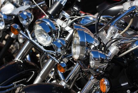 Closeup of motorcycle on the bike show Stok Fotoğraf