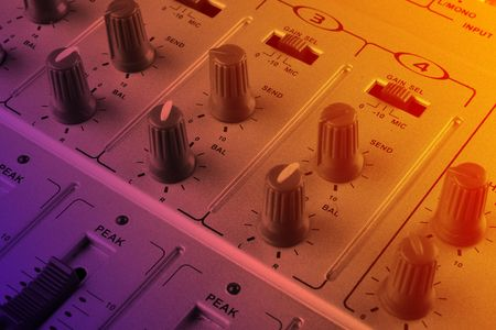 Music mixer - closeup view Stock Photo - 5014060