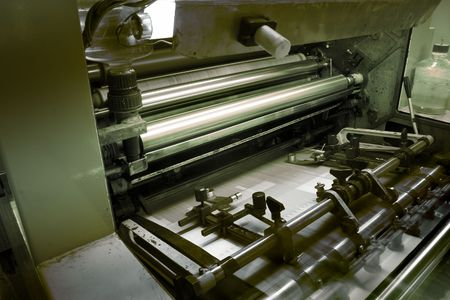 Offset press machine photo