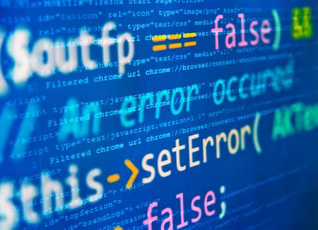"""Programmcode - selektiven Fokus auf  """"gesetzt Fehler """" Wörter Standard-Bild - 39385243"""