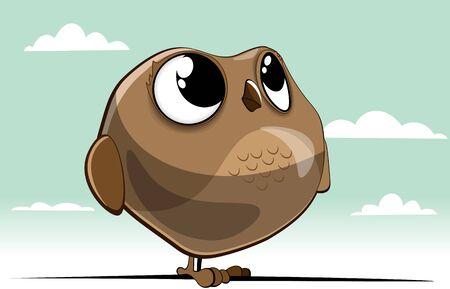 owl with big eyes Illustration
