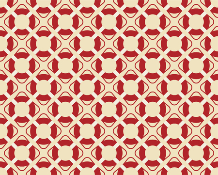 Vintage seamless texture. Sea summer theme. Red life buoy