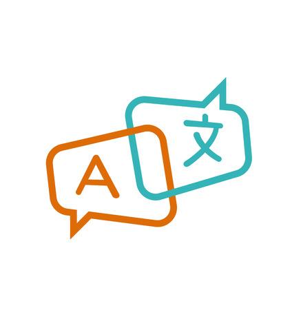 translation icon vector. translator, language