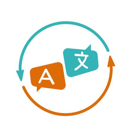 Übersetzung Symbol Vektor. Übersetzer, Sprache