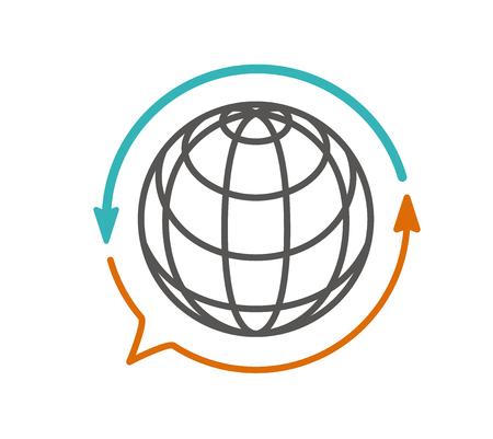 Übersetzung Symbol Vektor. Übersetzer, Sprache Vektorgrafik