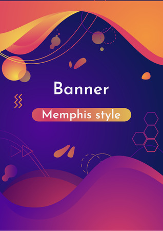 Fluid organic colorful shapes. Gradient abstract banners with flowing liquid shapes. Template for the design of a logo, flyer or presentation. Vector