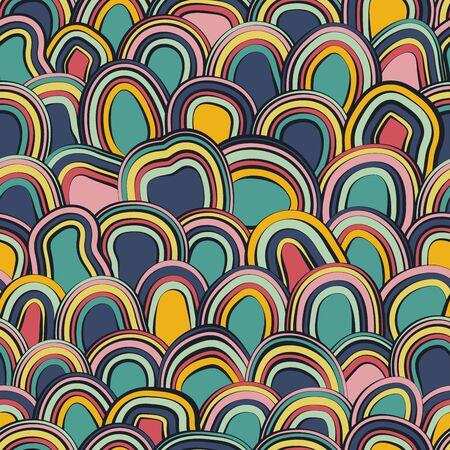 Seamless bright pattern. Stylish abstract background