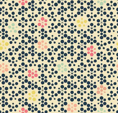 pattern is seamless, geometric, monochrome, circle Archivio Fotografico - 129489772