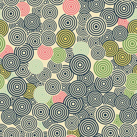 pattern is seamless, geometric, circle, monochrome Archivio Fotografico - 129489806