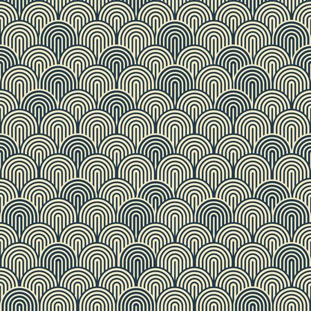 pattern is seamless, geometric, monochrome Standard-Bild - 129489809