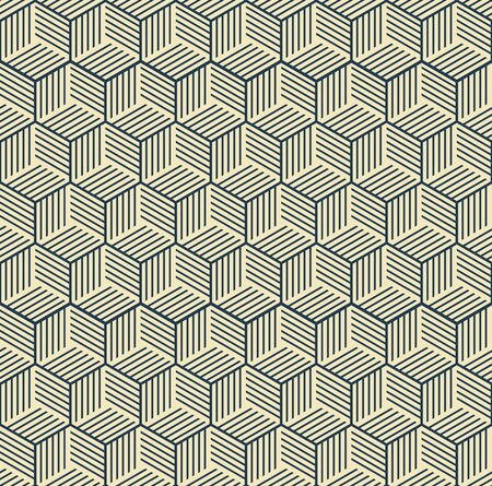 pattern is seamless, geometric, monochrome, axonometry, cube