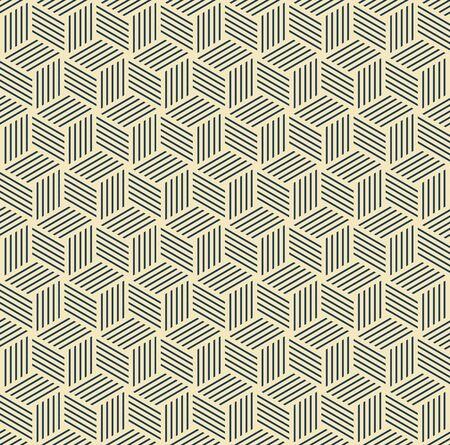 pattern is seamless, geometric, monochrome, axonometry, cube Archivio Fotografico - 129489820