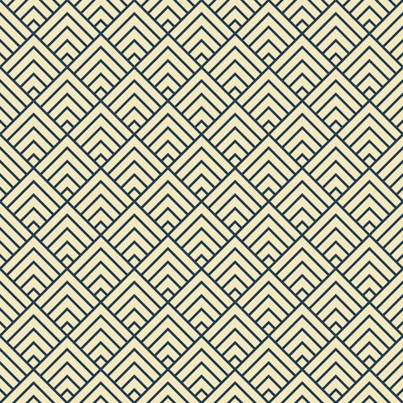pattern is seamless, geometric, monochrome, rhombus, diamond Archivio Fotografico - 129489851