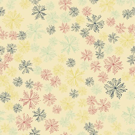 abstract seamless pattern. chaos on a light background, multicolored Иллюстрация