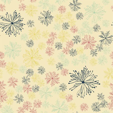 abstract seamless pattern. chaos on a light background, multicolored Archivio Fotografico - 129489862