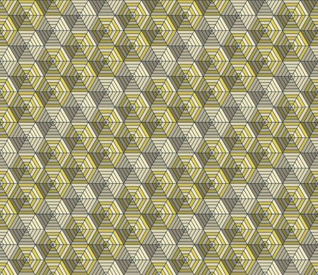 pattern is seamless, geometric, monochrome, hexagon, honeycomb Иллюстрация