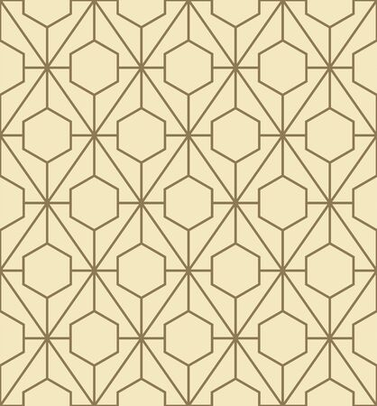 Abstract geometric pattern with lines. Vector, fabric abstract seamless background, background with hand drawn elements. Vintage motifs. old style Фото со стока - 129489910
