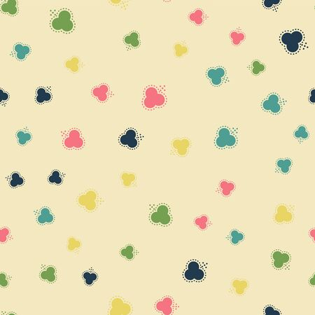 Abstract geometric pattern with lines. Vector, fabric abstract seamless background, background with hand drawn elements. Vintage motifs. old style Archivio Fotografico - 129489934