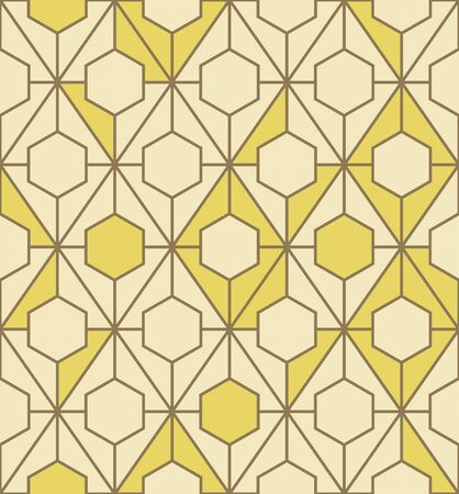 Abstract geometric pattern with lines. Vector, fabric abstract seamless background, background with hand drawn elements. Vintage motifs. old style Archivio Fotografico - 129489974
